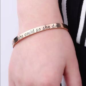 Jewelry - She believed she could so she did mantra cuff